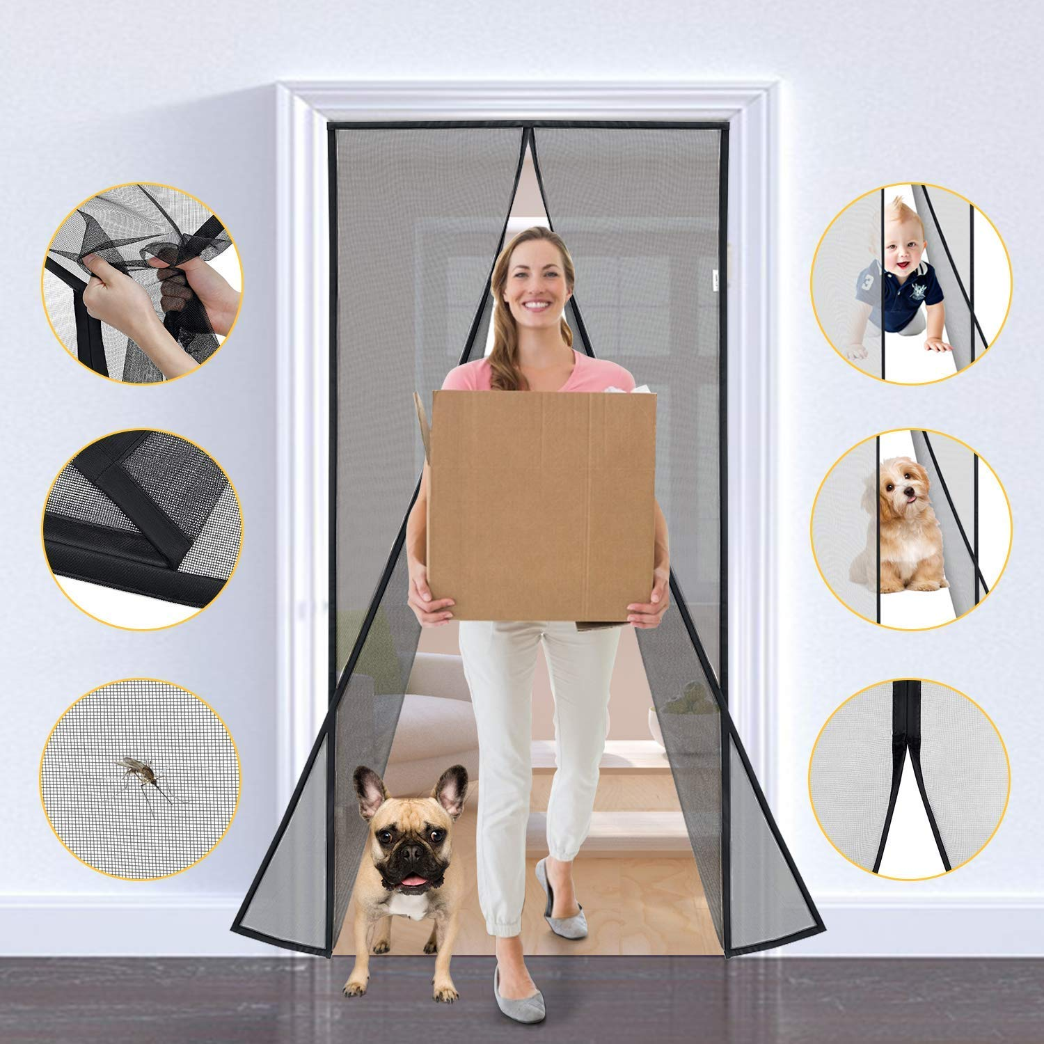 Magnetic Screen Door, perfect for pets and kids! 50% off, $8.99 on Amazon