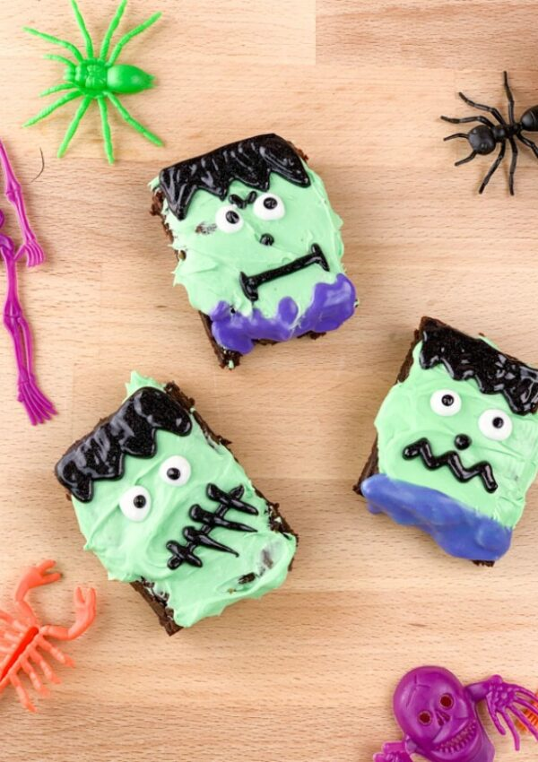 Easy Frankenstein Brownies