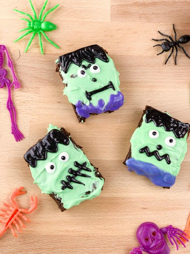Easy Frankenstein Brownies