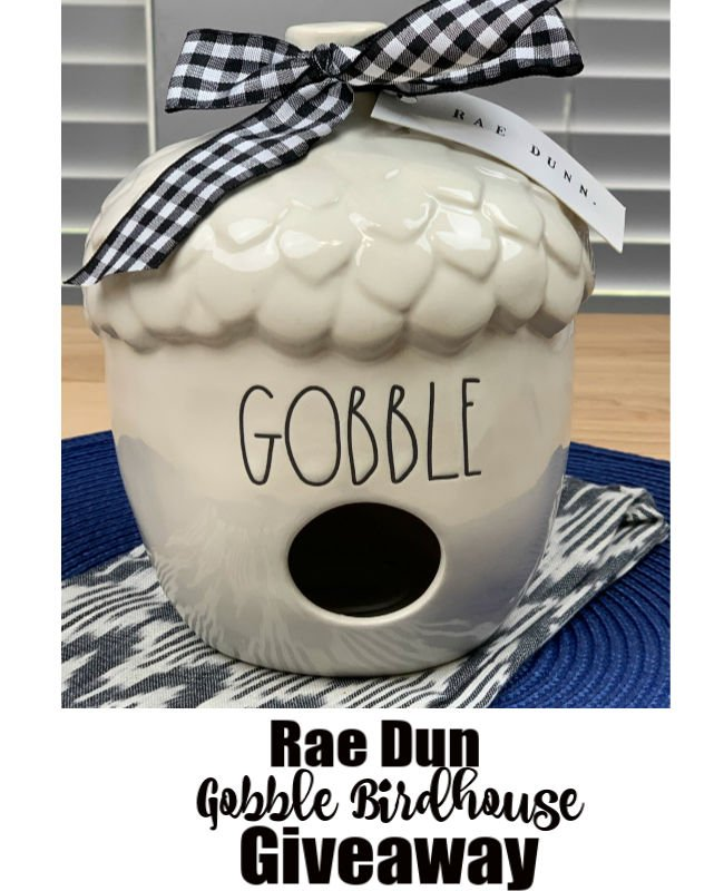 Rae Dunn Gobble Birdhouse Giveaway