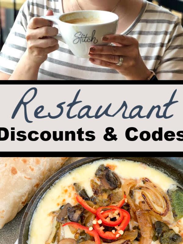 Restaurant Discounts & Codes 12/6