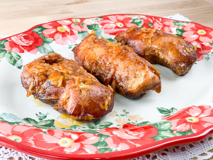 Slow Cooker Orange Chicken Plated