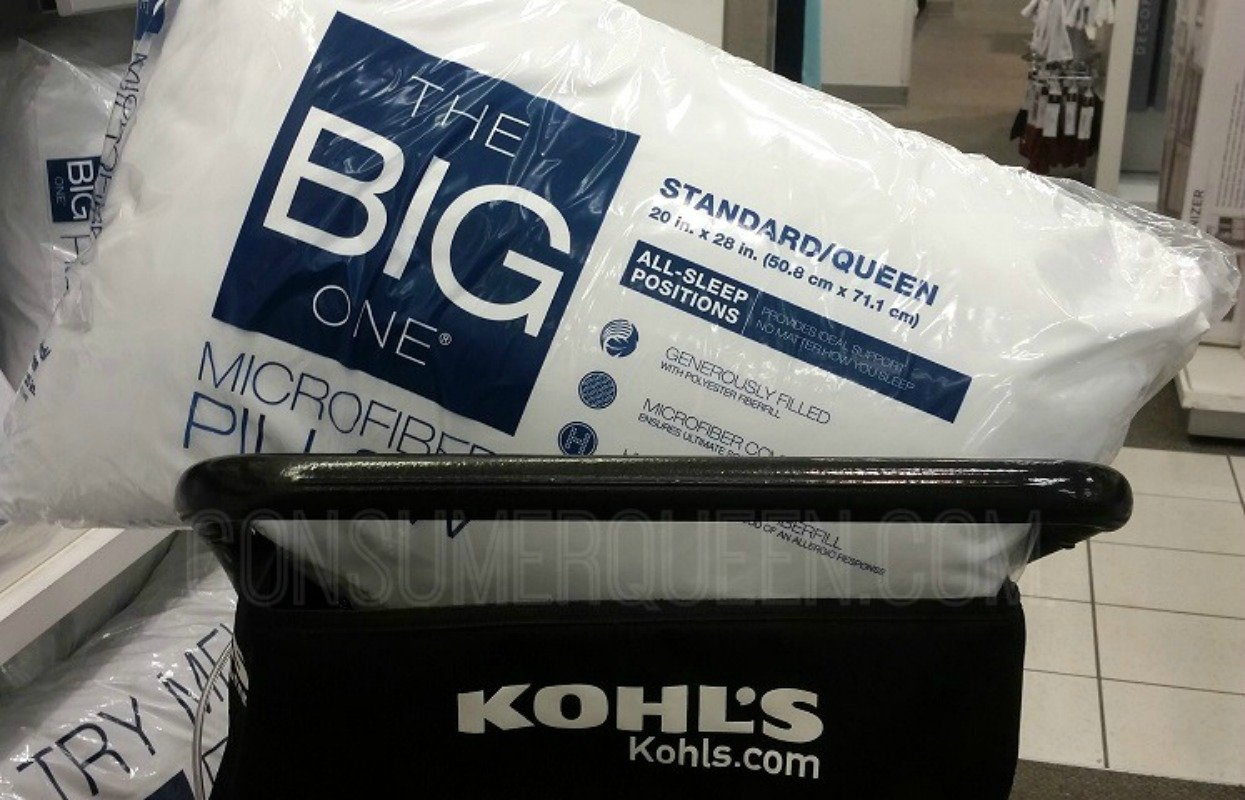 The Bog One Microfiber pillows at Kohls