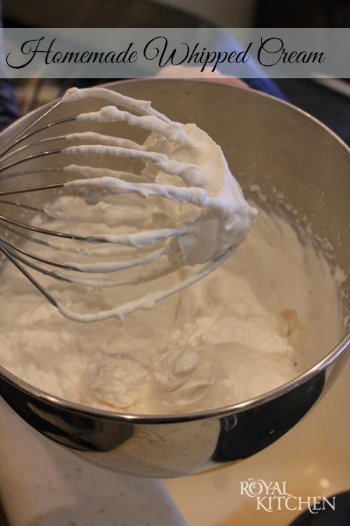Nana's Homemade Whipped Cream #outofthekitchen