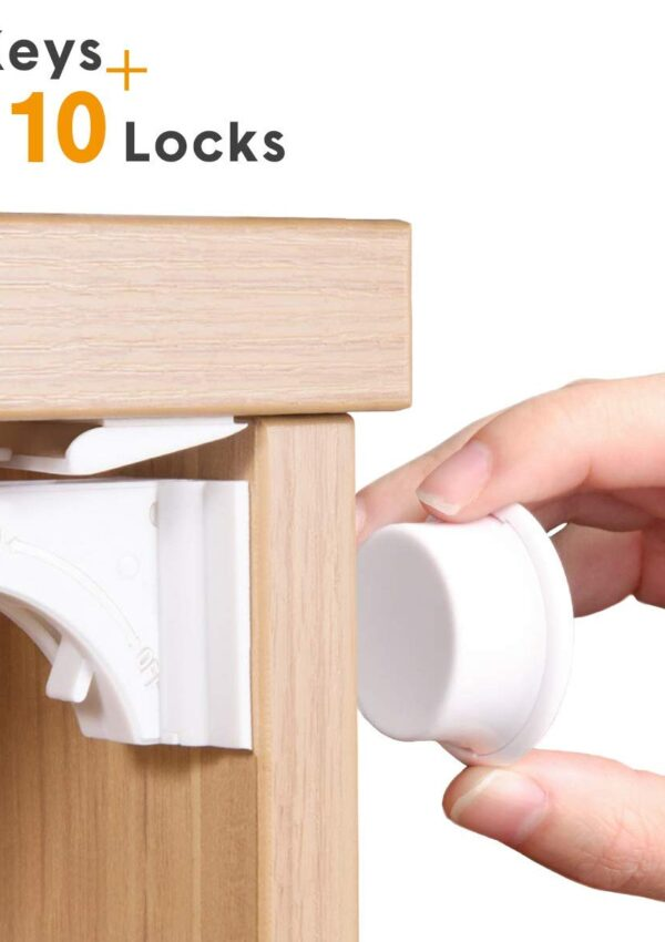 Magnetic Baby Proofing Locks, Set of 10 + 2 keys for just $6.87! 60% off on Amazon