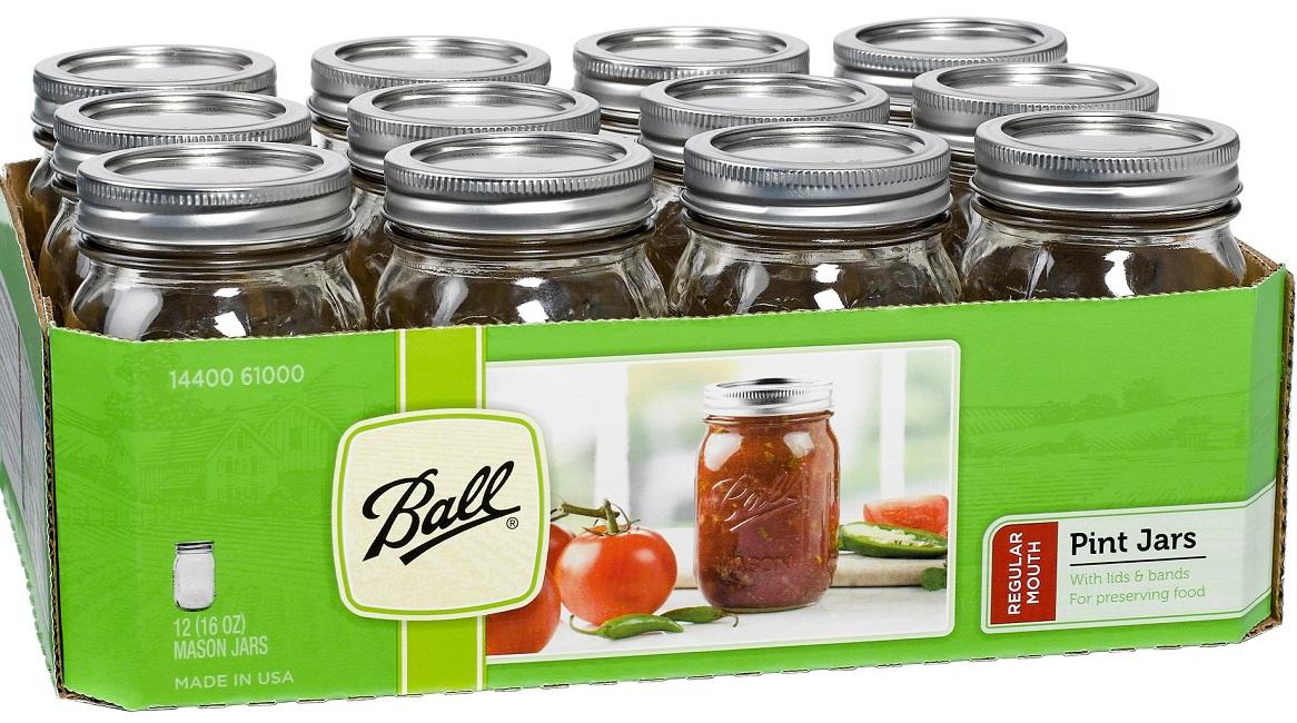 ball glass mason jars 12 pack