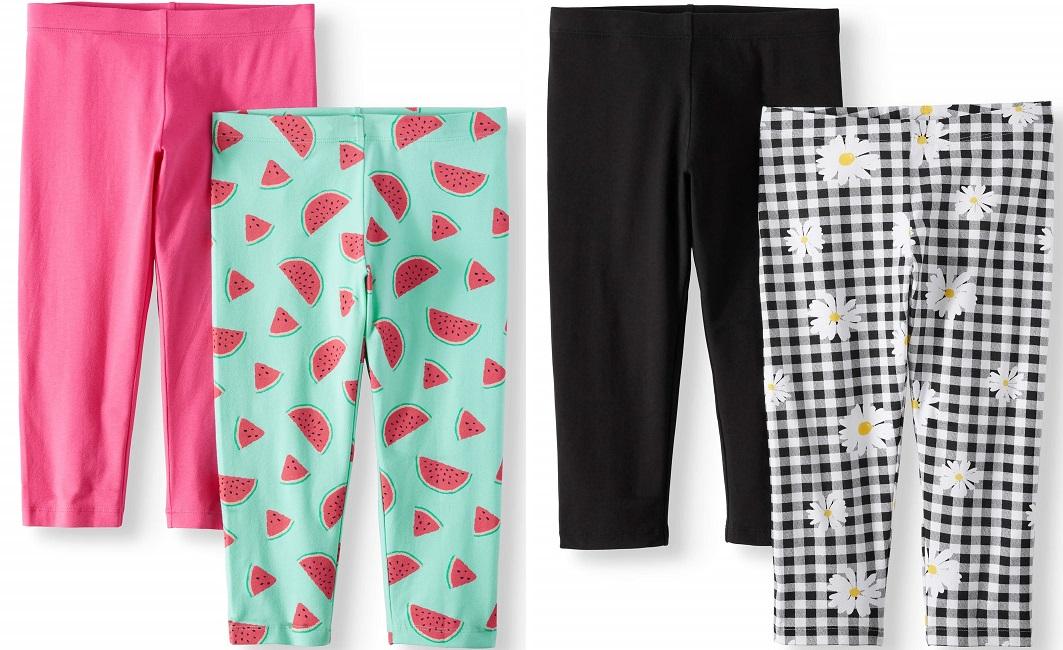 Girls Capri Leggings 2 Pack Just $4 at Walmart + Free Store Pickup!