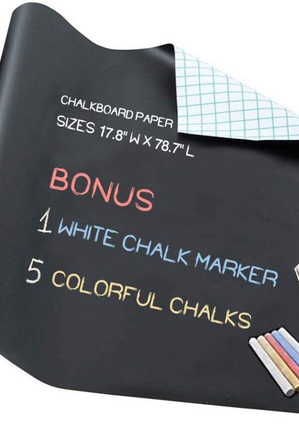 Chalkboard Contact Paper, vinyl for walls or labels – 50% off on Amazon! Just $4.82