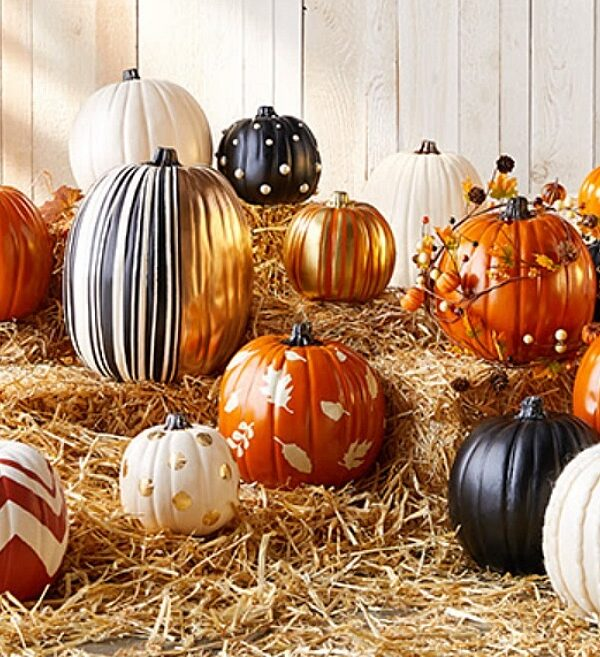 decorative pumpkins at michaels