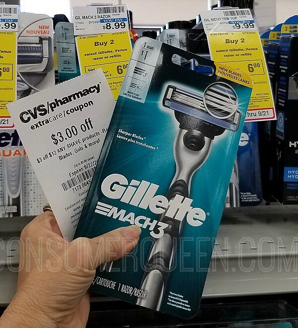 gillette mach3 razor at cvs