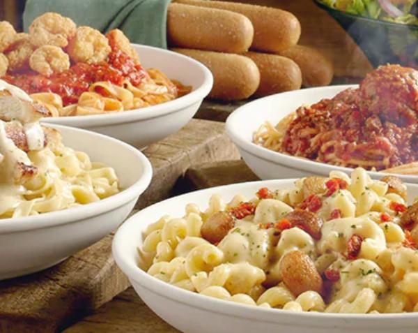 never ending pasta bowl at olive garden