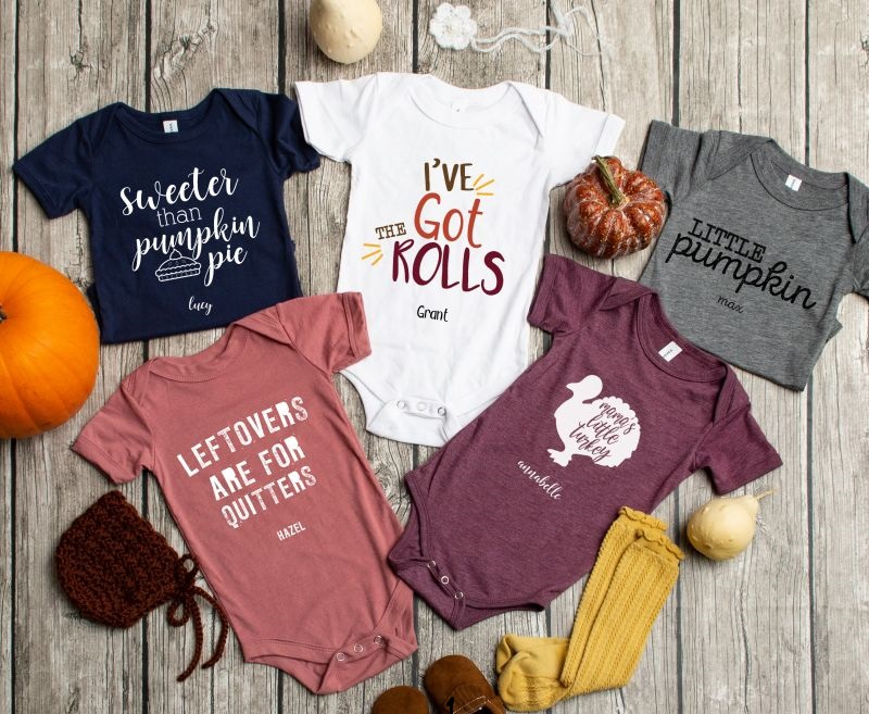Personalized Thanksgiving Onesies $18.50 Shipped – Too Cute!