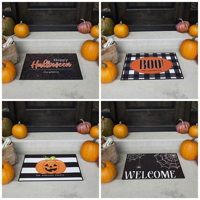 personalized halloween doormats