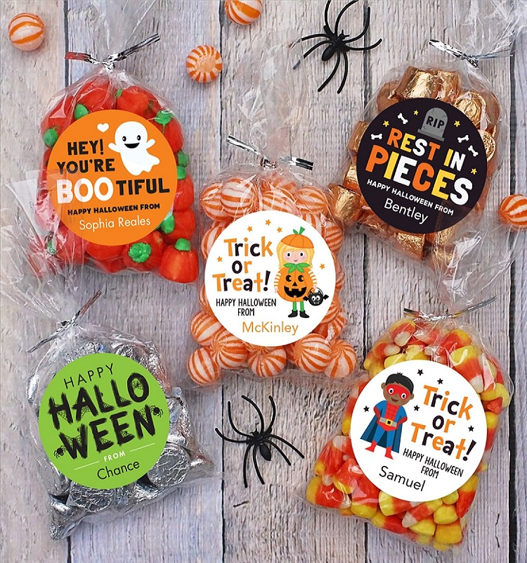 Personalized Halloween Stickers & Bags 24-ct. Only $12.20 Shipped! *EXPIRED*