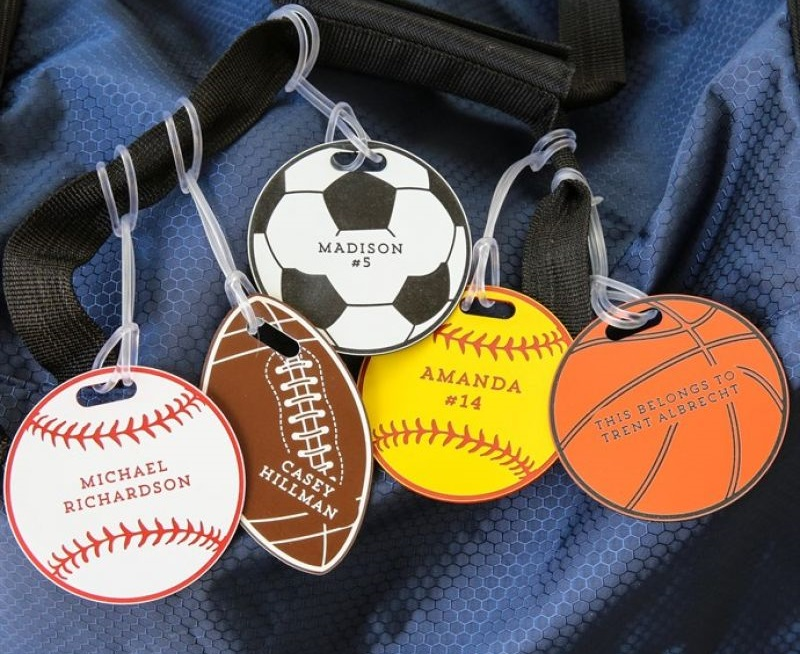 Personalized Sports Bag Tags Just $9.98 Shipped