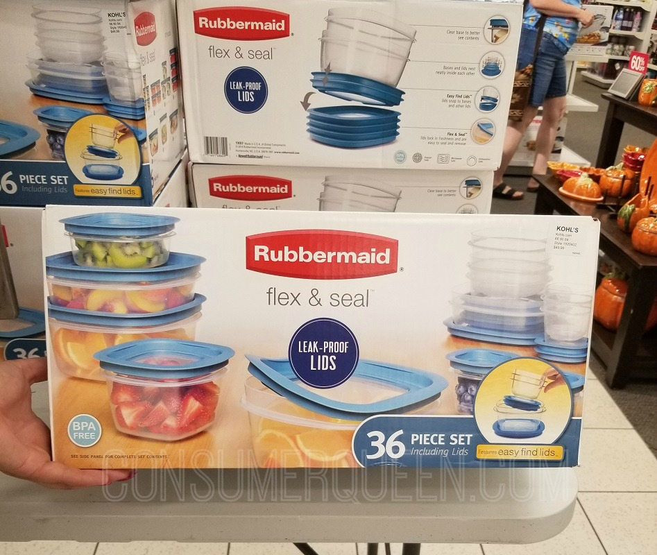 Rubbermaid 36 Piece Flex & Seal Storage Set $19.99 (Reg. $50) at Kohl's *EXPIRED*