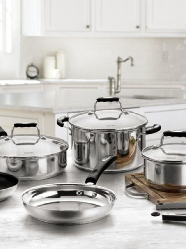 stainless steel cookware set at best buy