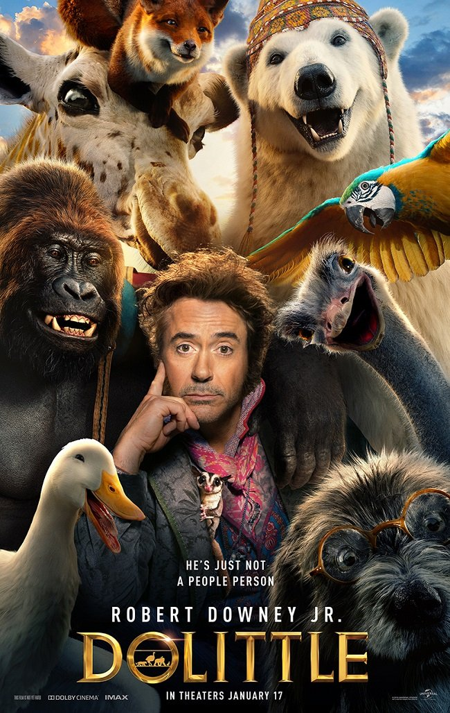 DOLITTLE Movie- In Theaters January 17th! See the Trailer Here!