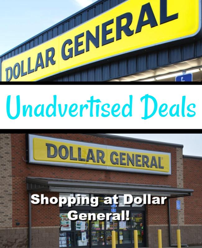Dollar General Unadvertised Deals 10/31
