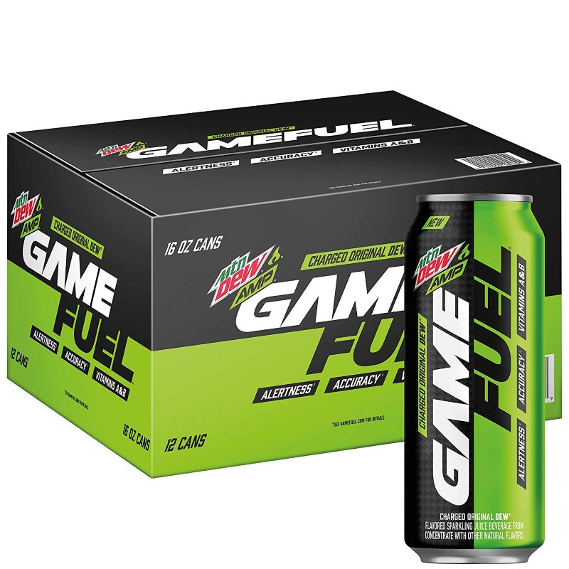 Mountain Dew Game Fuel 12 pack, all flavors just $11.88 on Amazon