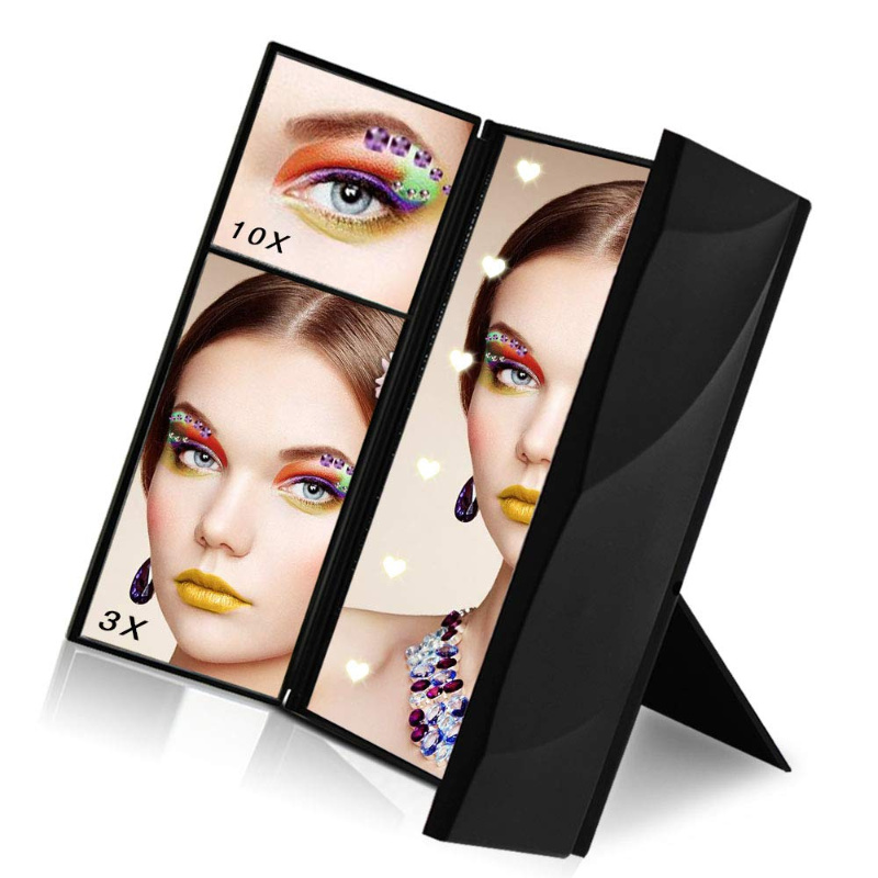 Portable Makeup Mirror with LED Lighting just $5.70 on Amazon!