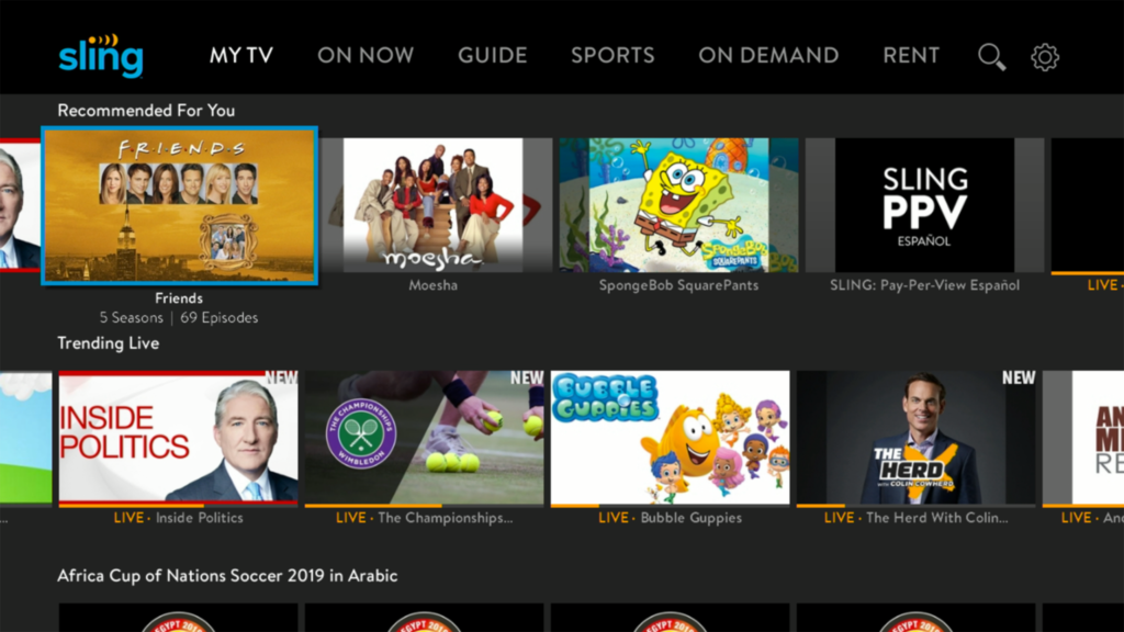 Free Sling TV Experience