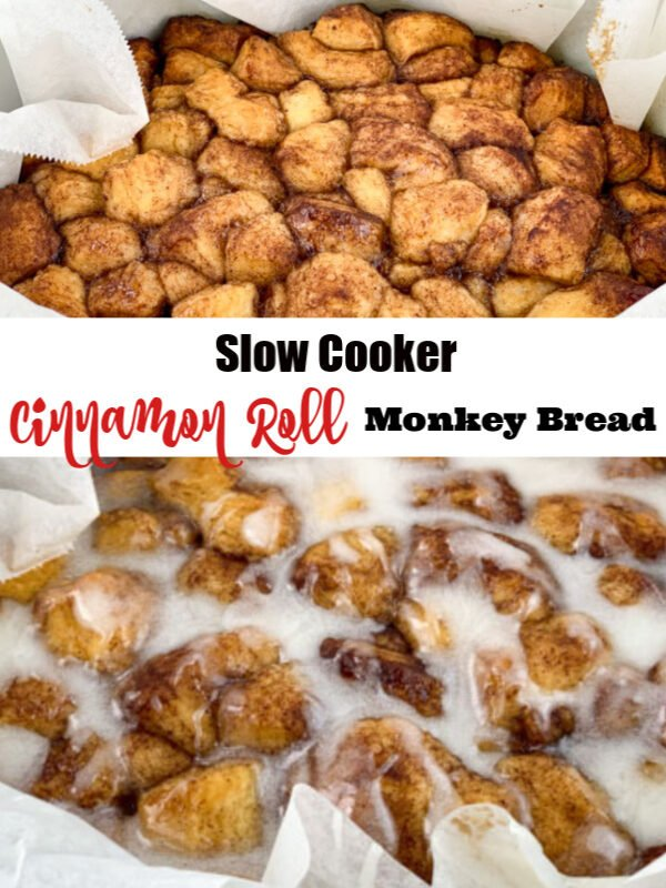 Slow Cooker Cinnamon Roll Monkey Bread
