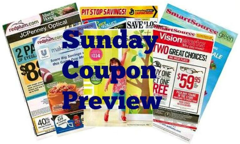 Sunday Coupon Preview 9/19/21 – One Insert Coming