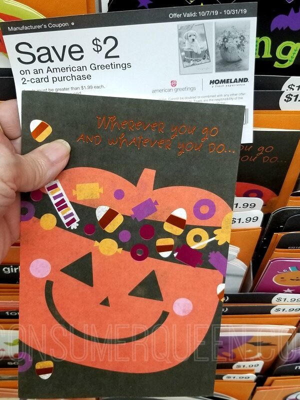 american greetings cards 99¢ at Homeland