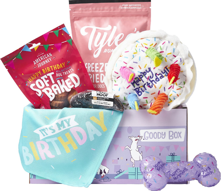birthday goodie box at chewy