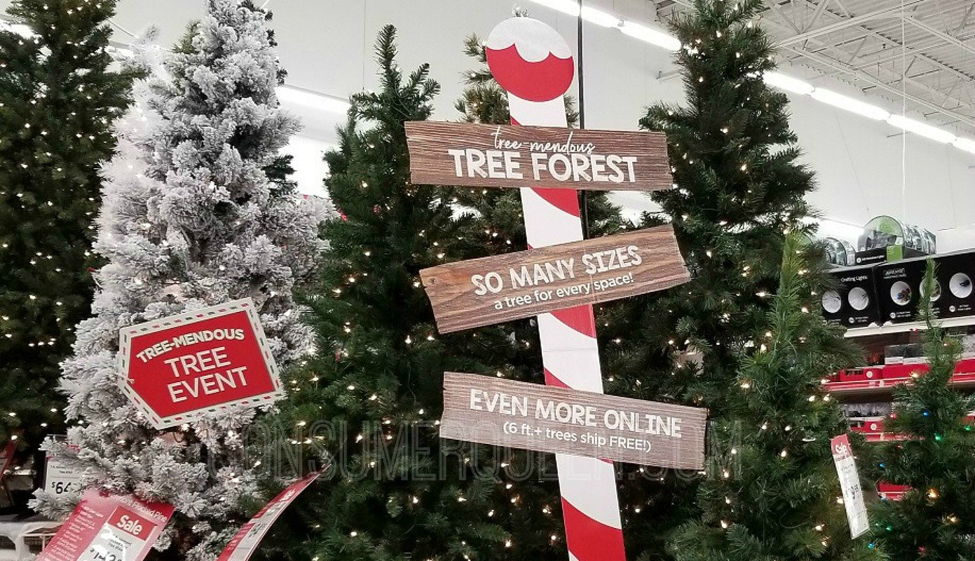 blck friday priced christmas trees at michaels