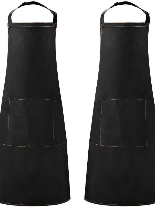 Black Kitchen Apron, 2 pack just $6.49 – 50% off on Amazon!