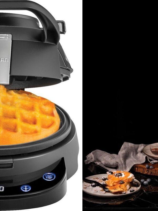 chefman volcano digital waffle maker at best buy