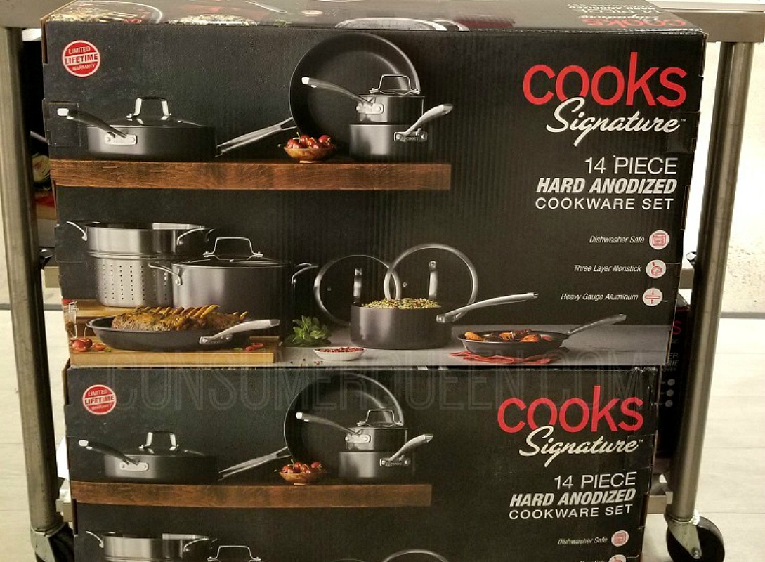 Cooks Signature 14 Piece Cookware Only $89.99 (Reg. $400)