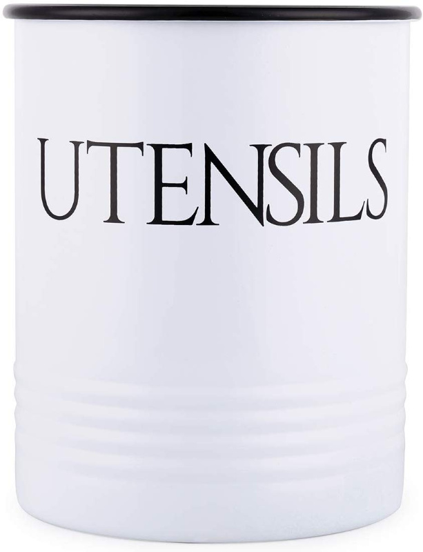 Farmhouse Utensil Holder – white or turquoise just $9.00 on Amazon!