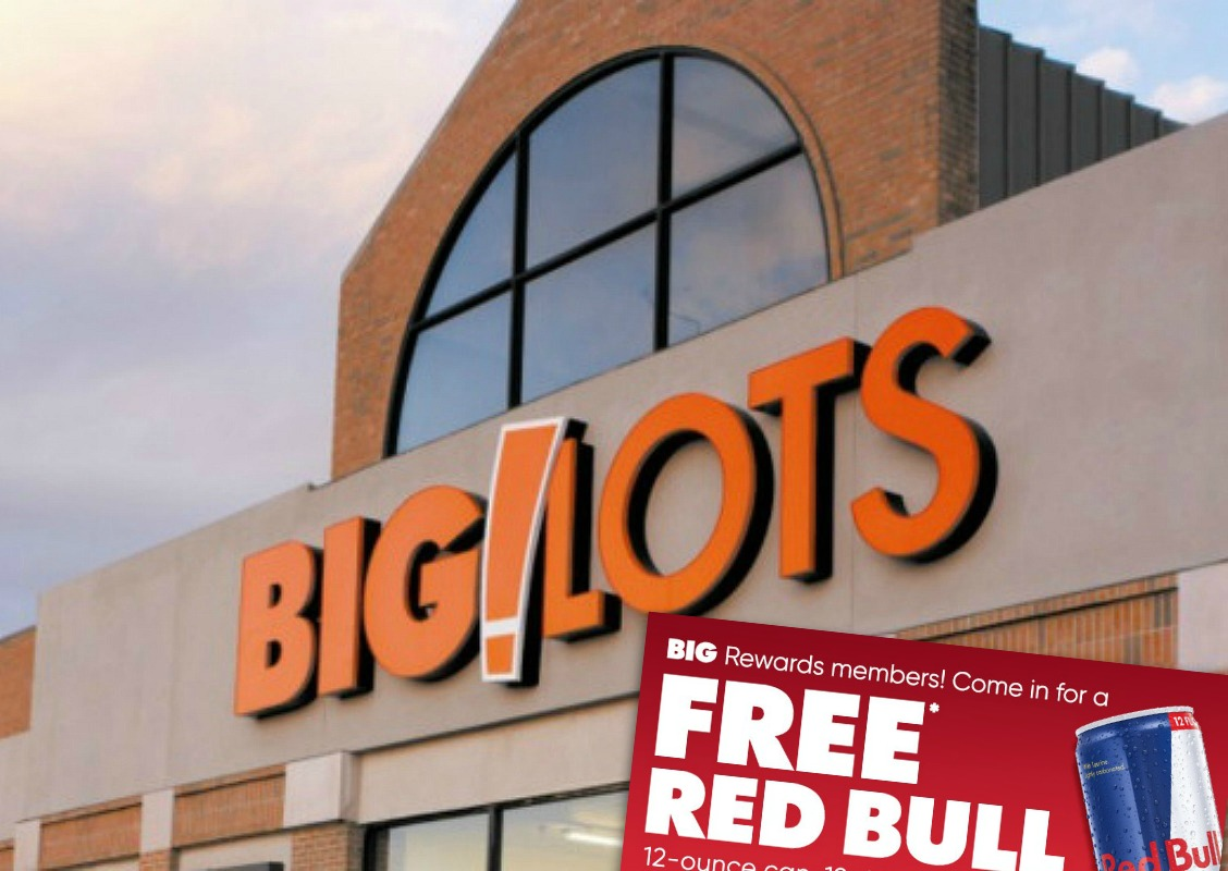 Free Red Bull 12 Oz Can At Big Lots For Rewards Members Expired