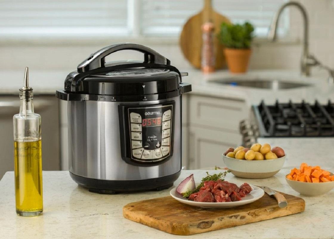 gourmia 8 quart pressure cooker at best buy