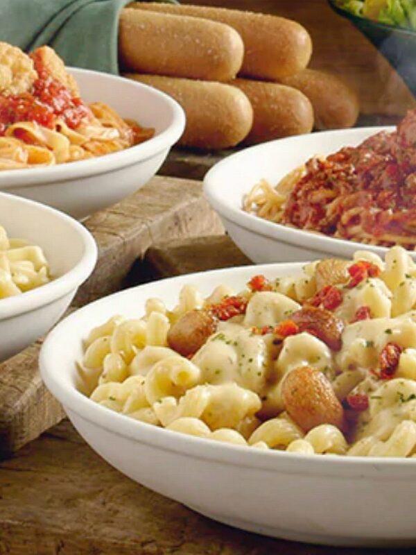 BOGO free never ending pasta bowl at olive garden