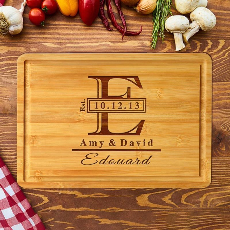 Personalized Cutting Board, Wooden & Engraved 50% off on Amazon! Makes a perfect gift for just $24.99!