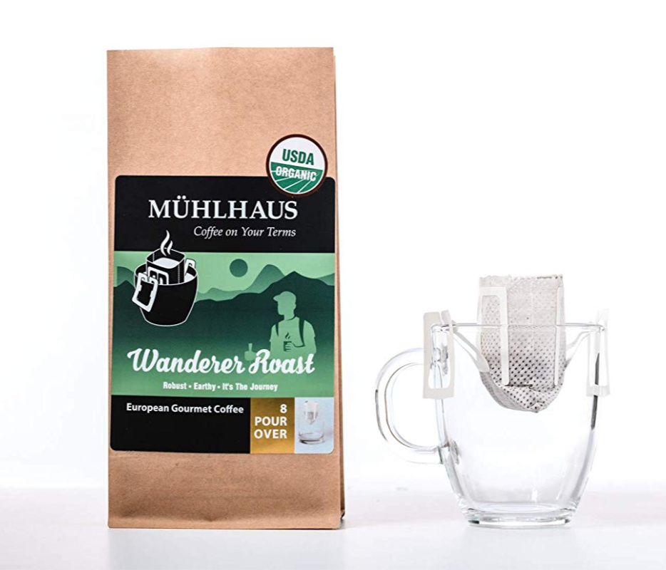 Pour Over Coffee, 4 pack of organic Wanderer Roast – $1.00-$2.00 on Amazon, no limit!