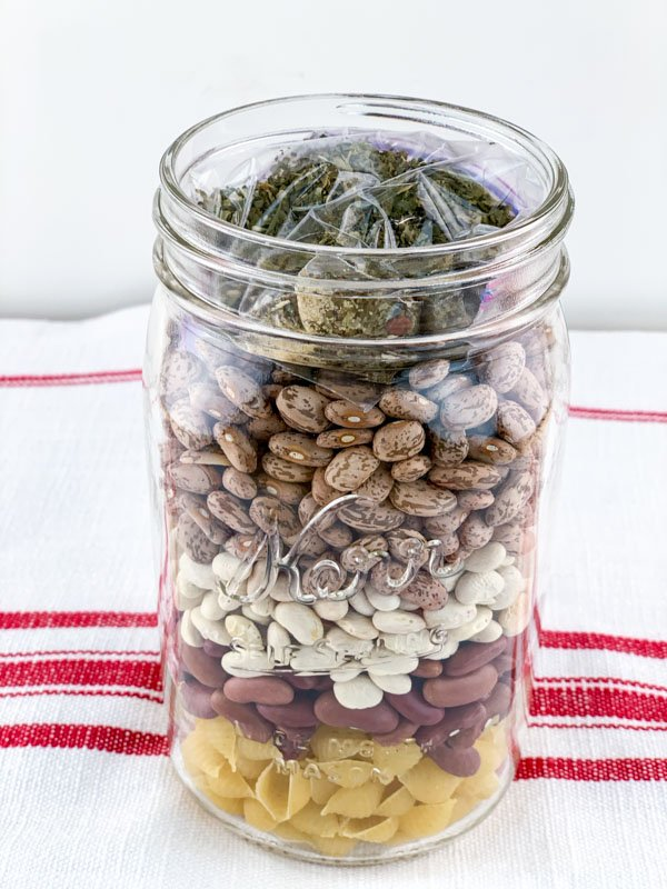 Layered Jar with seasonings added