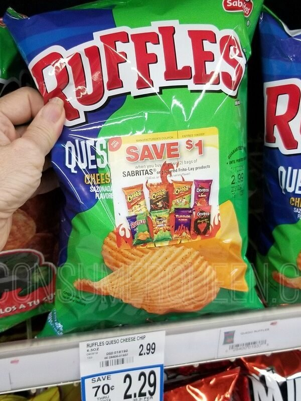 select ruffles chips at homeland