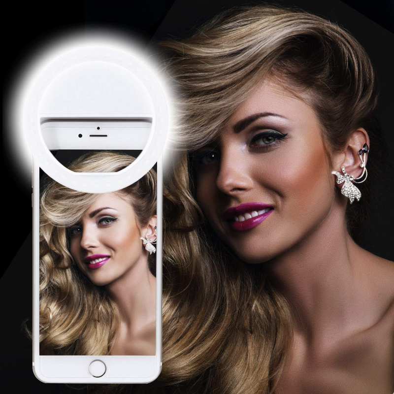 Selfie Ring Light, clips to your phone for perfect lighting! Just $4.49  – 55% off on Amazon!