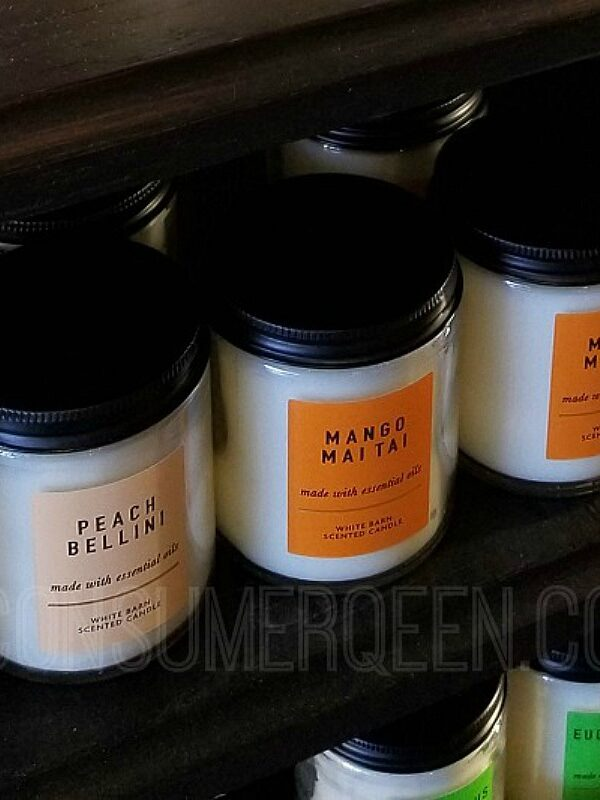 single wick candles at bath & body works