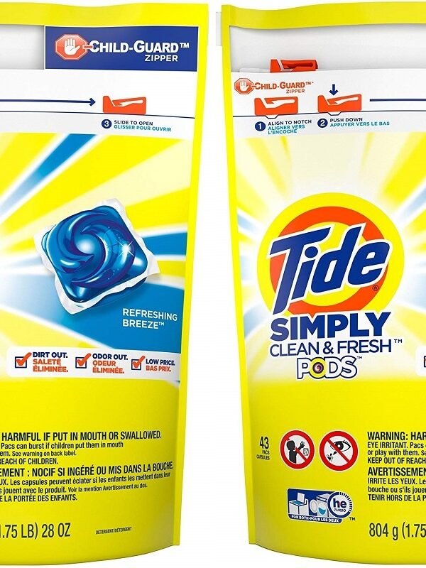 tide simply 43 count pods on amazon