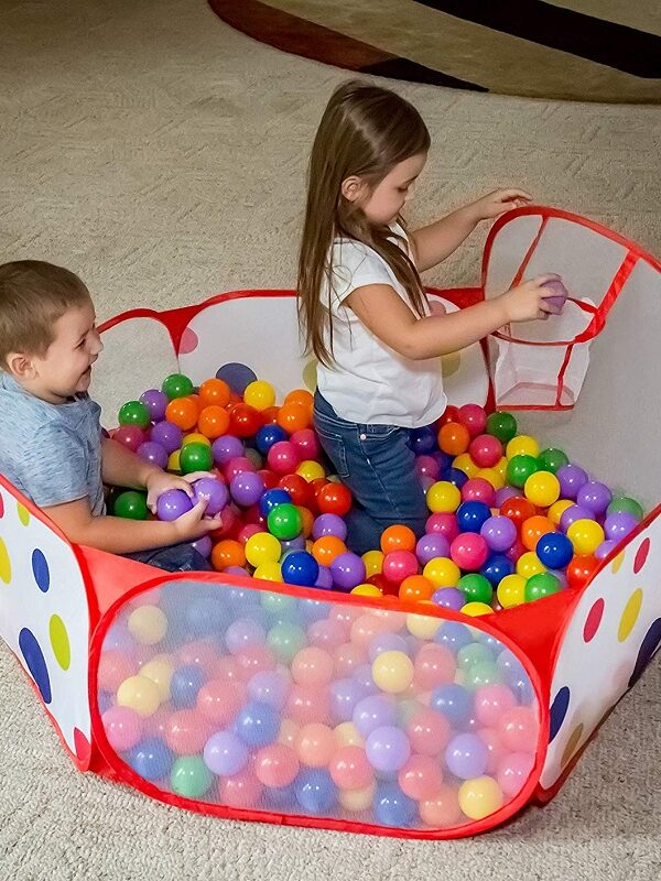 toddler ball pit with basketball hoop
