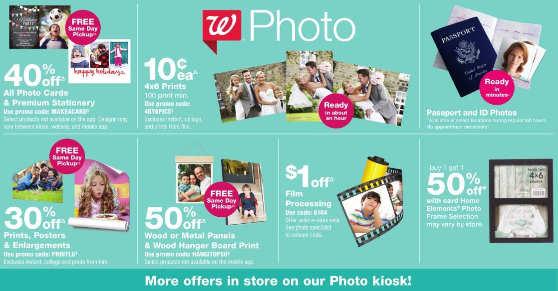 walgreens photo coupon deals