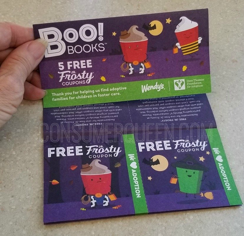 wendys boo booklets