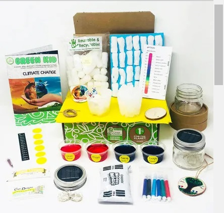Gifts for Kids Green Kids Crafts Box