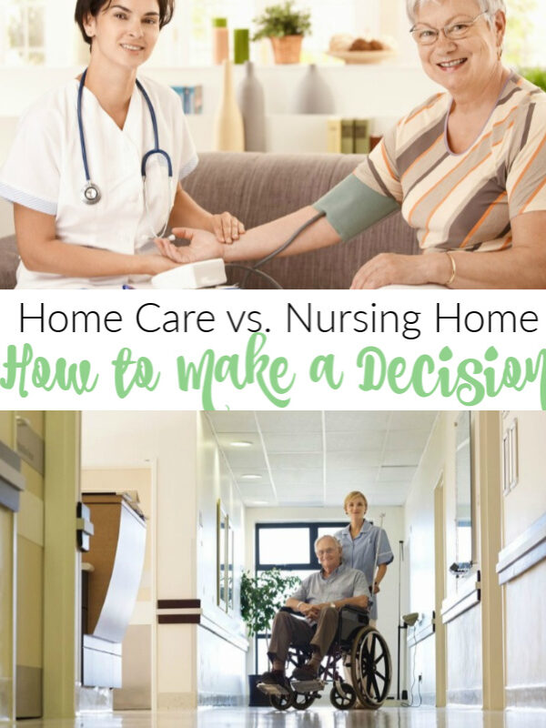 Home Care vs. Nursing Home – How to Make a Decision